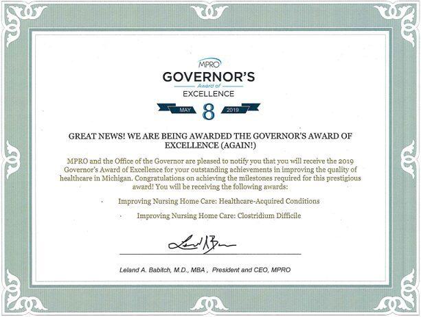 Governer's Excellence